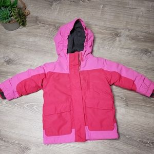 Lands end squall jacket size 3t color pink.
